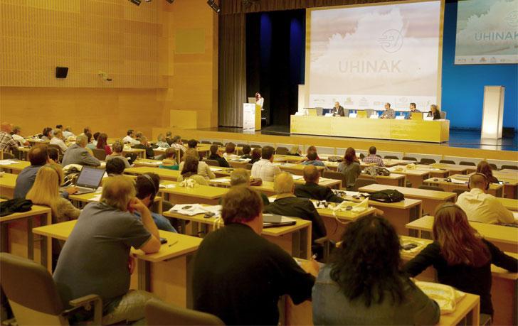 Congreso Uhinak sobre Cambio Climático en su edición de 2015.