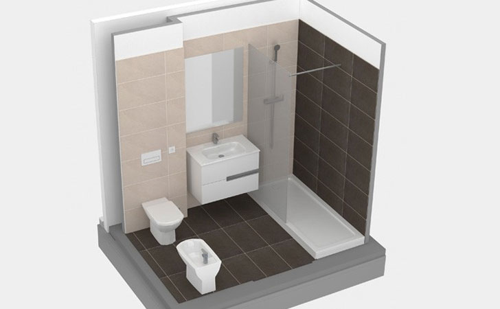 Baños modulares para rehabilitación de hoteles.
