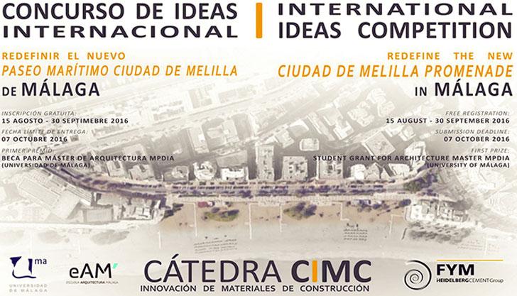 Cartel del primer Concurso Internacional de Ideas de la Cátedra de Arquitectura.