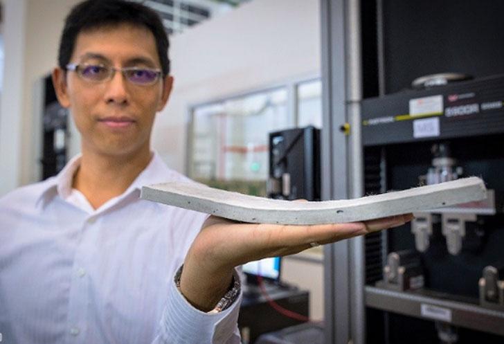 Investigador de NTU Singapur presenta el hormigón ConFlexPave.