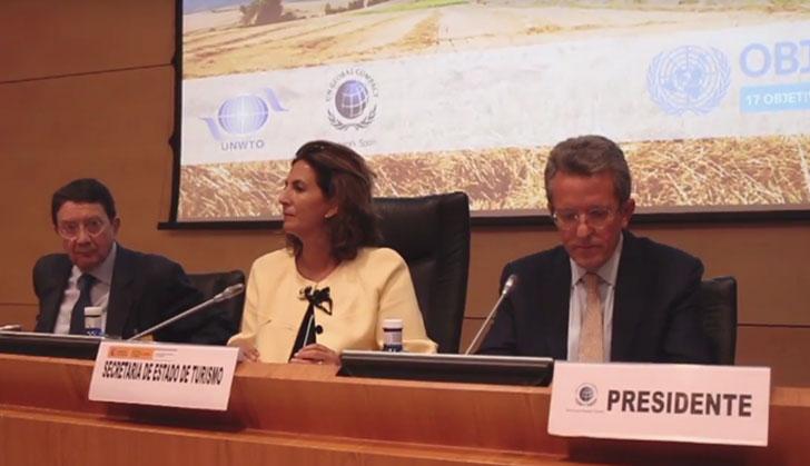 Secretaria de Estado de Turismo, Isabel Borrego, en la presentación del proyecto.