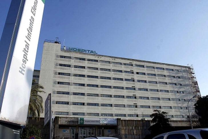 Hospital Infanta Elena que ha sido sometido a los ahorros de eficiencia energética y renovables de la Junta.