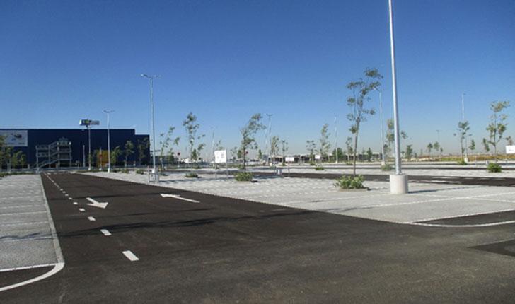 Arboleda situada en el aparcamiento de IKEA-Alcorcón.