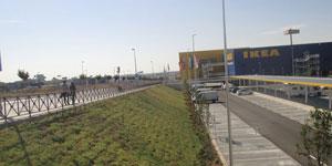 Ajardinamiento Sostenible en una superficie comercial en Alcorcón