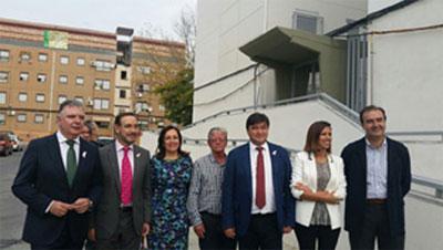Visita a las actuaciones de rehabilitación de las viviendas de El Torrejón