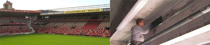 El Grupo Puma participa en la Rehabilitación del estadio El Molinón
