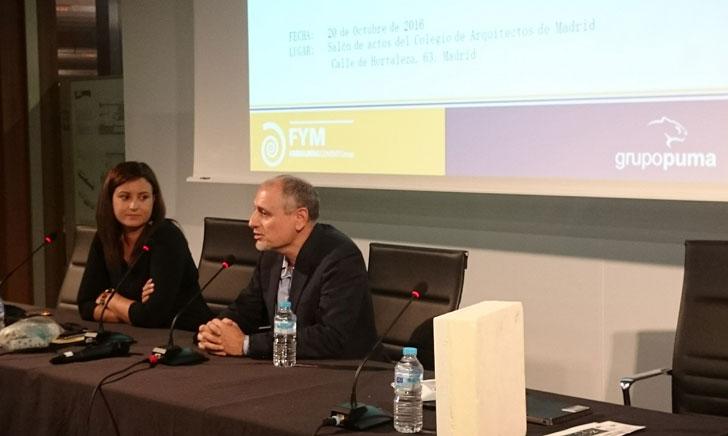 FYM y Grupo Puma en su presentación de materiales para rehabilitar envolventes.