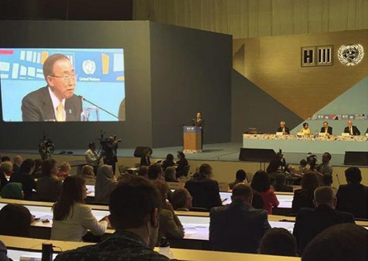 Ban Ki-Moon recalca la apropiación de la Nueva Agenda Urbana por parte de los Alcaldes.