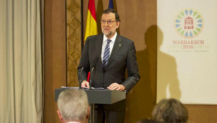 Mariano Rajoy anuncia la puesta en marcha de una ley de Cambio Climático.