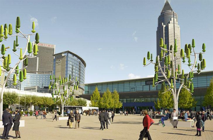 L´Abre a Vent, un árbol artificial que genera energía a partir de pequeñas corrientes de aire.