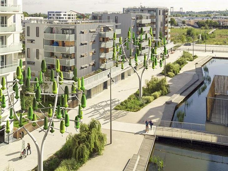 Árbol del viento en entornos urbanos.