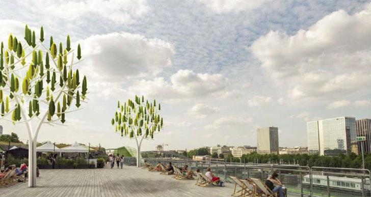 Urbanismo sostenible con el árbol del viento.