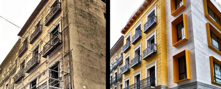 Rehabilitación de los edificios, una de las medidas del paquete de invierno de la Comisión Europea.