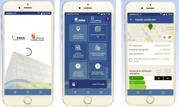 EREN JCyL desarrolla una app con información práctica sobre los certificados de eficiencia energética.