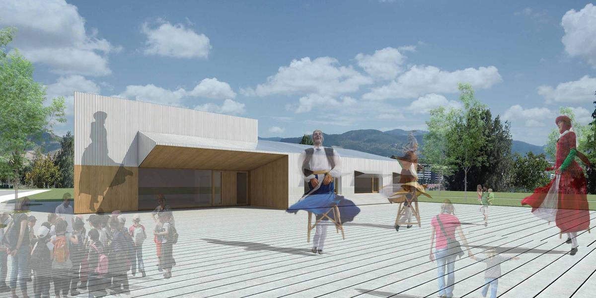 Edificio dotacional de Mendillorri que busca ser EECN.