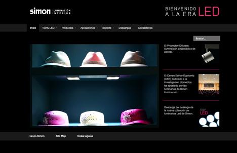 Nueva página web de Simon Led
