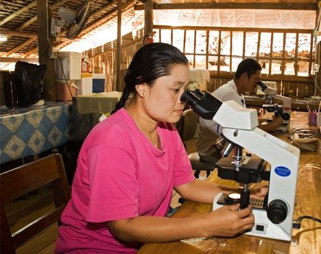Foto de la Unidad de Investigación de la Malaria Shoklo (SMRU), ubicada en la ciudad tailandesa de Mae Sot