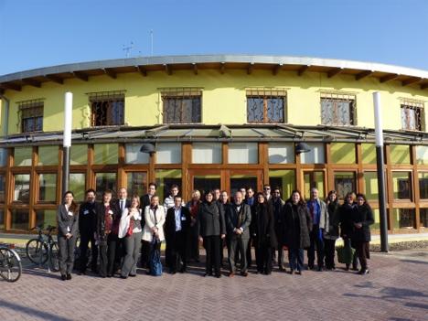 Los investigadores que se reunieron en Zaragoza para comenzar los trabajos del proyecto, procedentes de los 5 países que lo integran