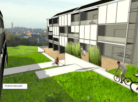 Demostrador belga. Un barrio ecológico que contará con viviendas unifamiliares, guardería etc.