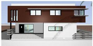 Vivienda unifamiliar, de 300 m2, calificación energética A, usando arquitectura solar pasiva y geotermia