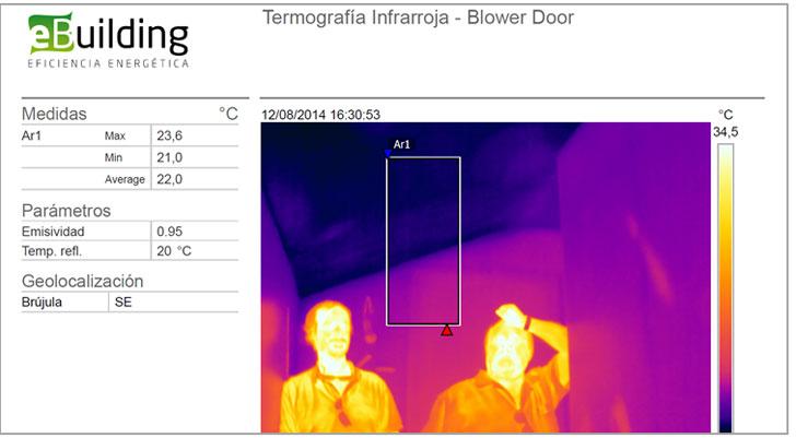 termografía del bajo cubierta.