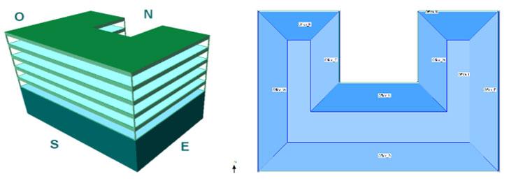 Imagen y zonificación del modelo energético de referencia