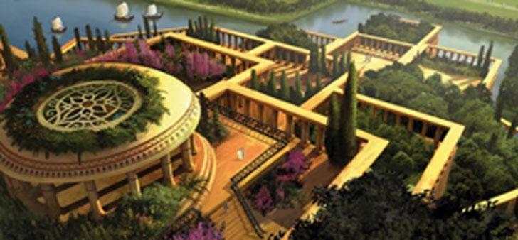 Ilustración de los Jardines Colgantes de Babilonia