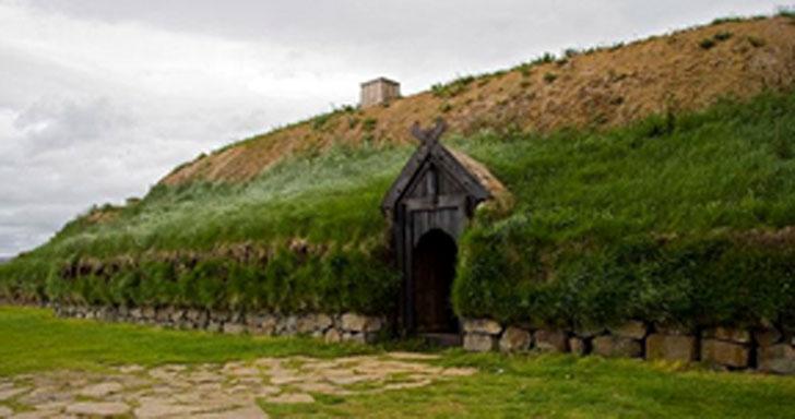 Muestra de vivienda vikinga