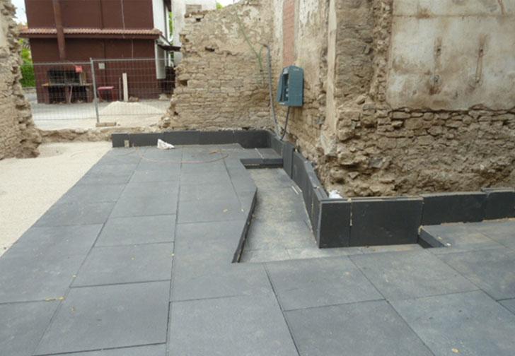 Placas EPS bajo losa de cimentación