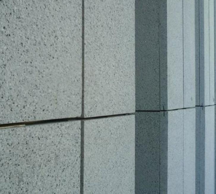 Detalle de piedras de revestimiento empleadas