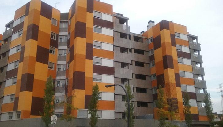 Fachada ventilada promoción pública de viviendas