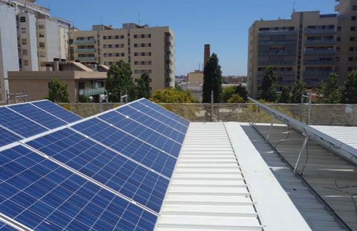 Cubierta fotovoltaica.