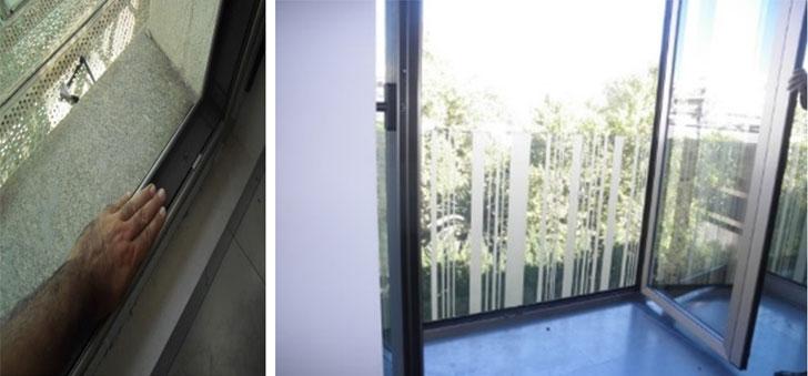 Detalles de ventana y carpintería