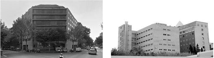 Edificios de referencia: Oficinas Calle Sepúlveda, Barcelona (Izquierda); Hospital Joan XXIII, Tarragona (Derecha)