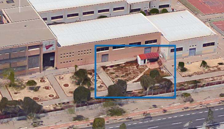 Zona construcción taller (Fuente Google Maps)