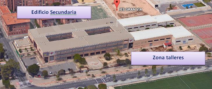 Vista IES Gran Vía (Fuente Google Maps)