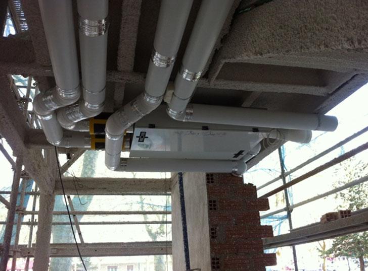 Imagen durante la instalación del Sistema Ventilación.