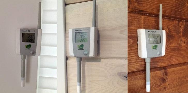 Sondas monitorización condiciones higrotérmicas.