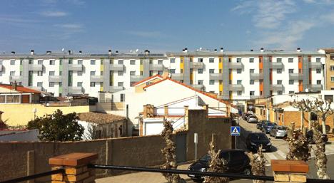 Panorámica de uno de los edificios rehabilitado del Proyecto Ecocity Tudela