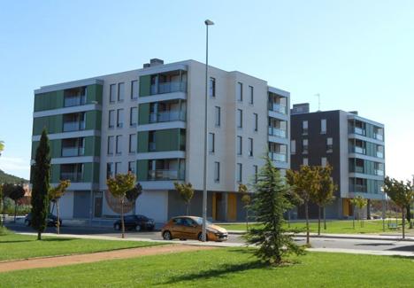 Uno de los edificios pertenecientes al proyecto Queiles Eficiente