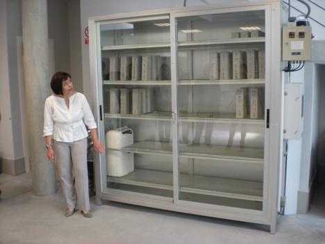 MUestra de productos en el Centro I+D de Lafarge
