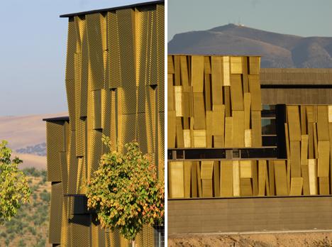Centro de interpretación de la cultura del olivo y la sostenibilidad, detalle fachada