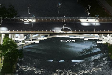 Puente de Isabel la Católica, visión nocturna