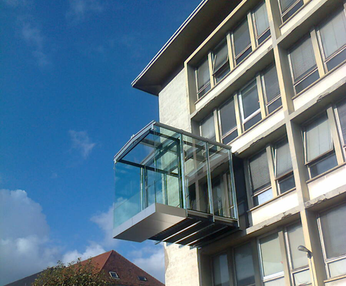 Prototipo de balcón eficiente creado por INSA. en colaboración con Kawneer.