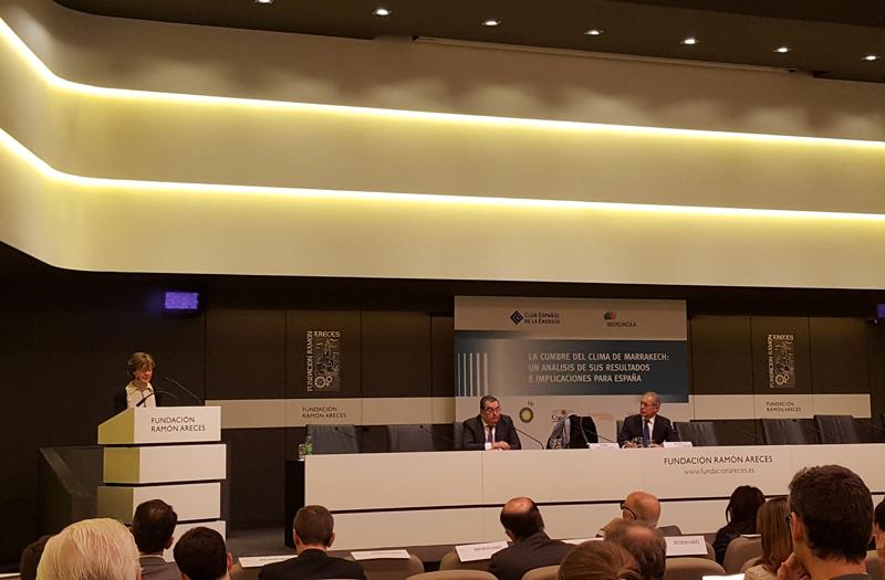 España analiza en la jornada La Cumbre del Clima de Marrakech los resultados en implicaciones en el cambio climático.