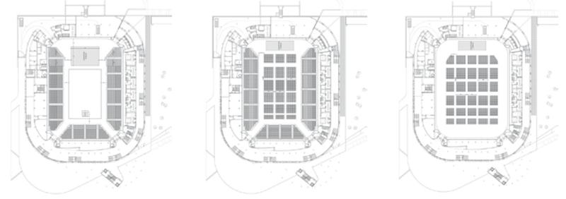 Construcción de Bilbao Arena con 10.000 m2 de chapa lisa de alumino reciclable.