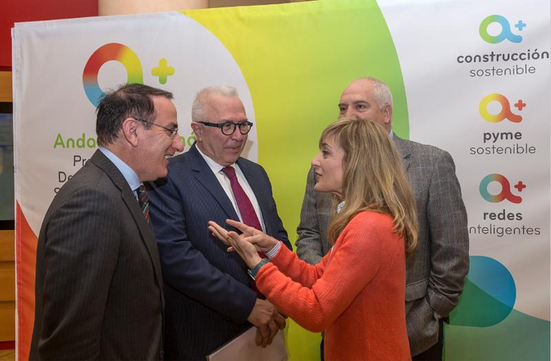 José Sánchez Maldonado en la presentación del Programa de Incentivos para el Desarrollo Energético Sostenible de Andalucía