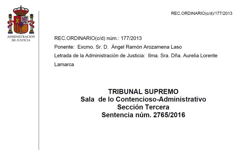 Sentencia del Tribunal Supremo.