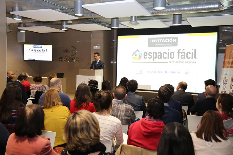 Presidente de Vía Célere, Juan Antonio Gómez-Pintado, durante el acto de presentación.