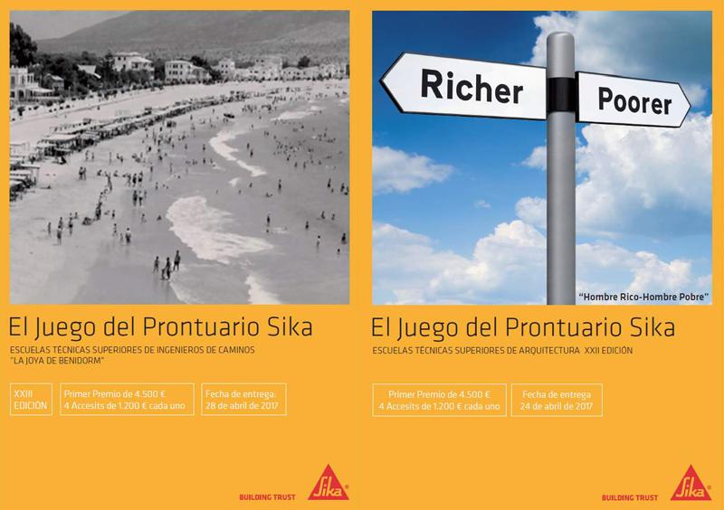 Nueva edición de los Premios Prontuario Sika para estudiantes de Ingeniería de Caminos y de Arquitectura.